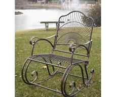 Wrought Iron Patio Furniture Chairs Waterproof UV Rocker Rocking Vintage Outdoor