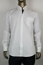 New Bottega Veneta Men's White Dress Shirt IT 52/US 42 234188 9000