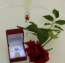 Ring 750 Gold Brillant Solitär Solitaire diamond 1,25 ct + 0,80 ct Gr. 53 Saphir
