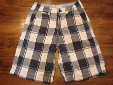American Eagle Men's Plaid Shorts Blue White 26