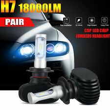 2x PHILIPS H7 180W 18000LM LED Headlight Kit Low Beam Bulbs High Power 6500K