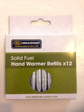 12x PACK OF HAND WARMER SOLID FUEL STICKS,by Highlander.Rods, Handwarmer refills