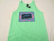 STUSSY DESIGNS BOX TANK Tank Top Shirt NEON GREEN Mens Size XL EXTRA LARGE NWT