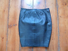 NWOT KATE MOSS BLACK  PENCIL LEATHER SKIRT & LONG BACK  ZIP 12 TOPSHOP