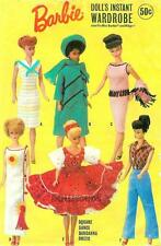 "VINTAGE fits 11.5"" BARBIE, MIDGE DOLL CLOTHES PATTERN 7429"
