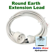ROUND EARTH EXTENSION CORD LEAD 4M MH HPS BALLAST HYDROPONICS REFLECTOR
