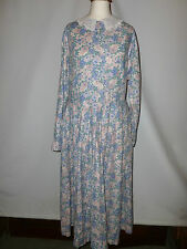 LADIES VINTAGE LAURA ASHLEY  COTTON   DRESS - - SIZE UK 12 BRITISH MADE