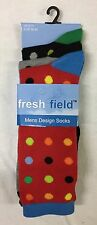 12 Pack New Men Fashion Non Elastic Cotton Assorted Socks Comfort Grip Size 6-11