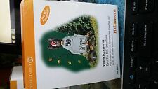 Over the hill tombstone department dept 56 halloween neige village train heritage