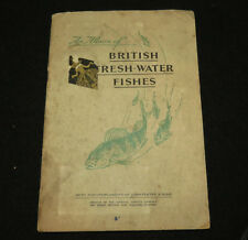 1934 UK PLAYERS FRESH-WATER FISHES - 46 OF 50 TOBACCO CARDS IN BOOKLET!
