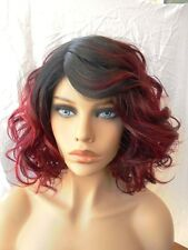 FREE SHIPPING Classic Wig - Quality Synthetic Hair Short Curly Brown & Red Wig