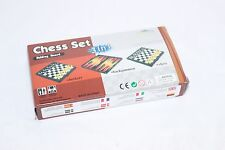 "3 in 1 Chess Set Magnetic Folding Chess/Checker/Backgammon Combination 7""x 7"" in"