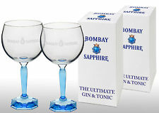 Bombay Sapphire Gin Balloon Glass New With Square Base X 2 Gift Boxed