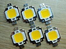 30 Stk. High Power 10W LED Chip ww, 9 - 12V, Neu, 900 Lm, COB, Aquarium, Fluter