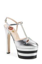 Womens High Heel Stiletto Rivet Metal Decro T-strap Platform Pump Shoes Plus Sz