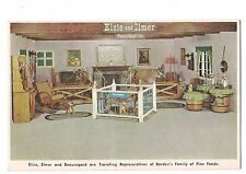 ELSIE, ELMER & BEAUREGARD Live Cow, Calf BORDEN Foods Furnished Home  Postcard