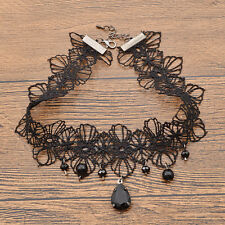 Sexy Gothic Black Howllow Out Lace Collar Victorian Punk Choker Necklace Pendant