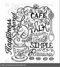Heartfelt Creations Cling Stamp Set ~ COFFEE TALK BACKGROUND ~ HCPC-3713