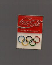 Pin's  Enjoy coca cola / Partenaire des jeux olympiques