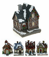 Christmas Decoration Ornament 5 Designs Light Up Snow Covered Christmas House