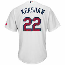Clayton Kershaw Los Angeles Dodgers 2016 4th of July Cool Base Jersey M