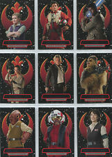 Star Wars the Force Awakens Series 2 Heroes of the Resistance 16 Card Chase Set