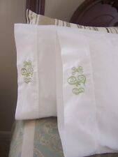 Monogrammed Standard Size Pillow Cases (Pair)