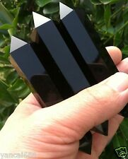 1PCS 80-120mm Natural Obsidian Crystal Double Terminated Wand Healing