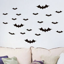New Set of 20 x BATS Halloween Bat Decal Sticker Vinyl Wall Art Child Room Decor