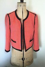 Ladies Vibrant Top Shop Short Collarless Jacket Size 10