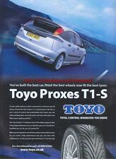 "Toyo Proxes T1-S ""Fit The Best Tyres"" 2003 Magazine Advert #176"