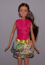 Modern Skipper Doll Size Clothes Belted Fashion Dress fits Petite Barbie