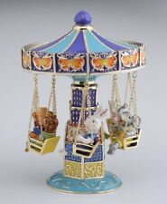 LIMITED EDITION Swing Carousel Trinket Box by Keren Kopal  Austrian Crystal