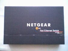 NETGEAR Model FS105 5 Port 10/100Mbps Switch & 7.5v 1A Power Supply - WORKING.