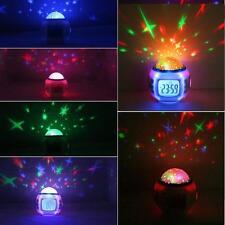Children Room Sleeping Sky Star Night Light Projector Lamp Bedroom Clock Alarm