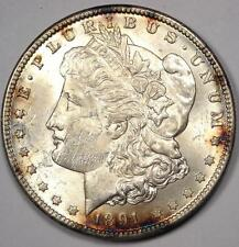 1891-CC Morgan Silver Dollar $1. Uncirculated Detail (MS UNC Polished) - Luster!