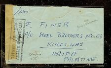 PALESTINE (P2603B) 1947 CENSORED MEF COVER STAMPLESS TO HAIFA
