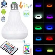 Bluetooth E27 Control Smart Music Audio Speaker LED RGB Color Bulb Light Lamp DE