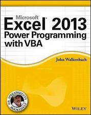 EXCEL 2013 POWER PROGRAMMING WITH VBA - NEW PAPERBACK BOOK