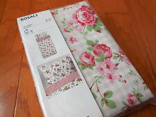 NIP IKEA CATH KIDSTON *ROSALI* ROSES White DUVET COVER & PILLOWCASE NEW!