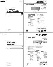 SONY TA-E9000ES & TA-N9000ES Service & User Manual