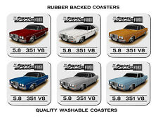 FORD 76' 79'  ZH  P6  LTD  V8 TOWN CAR SET OF 6   QUALITY RUBBER DRINK  COASTERS