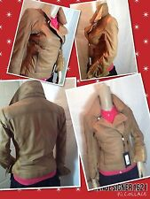 NEW sz s  Bod & Christensen Cuir Leather Moto Motorcycle Jacket, Brown