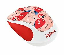 Logitech M325C Wireless Optical Mouse, Ambidextrous, Flamingo (910-004678)