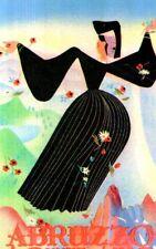 Riproduzione Cartolina Turismo 1950 Abruzzo Aquilano