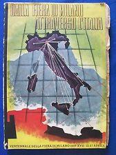 Futurismo DALLA FIERA DI MILANO ATTRAVERSO L'ITALIA 1939 illustr. Manlio