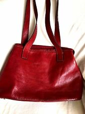 FOSSIL Red SOFT-THICK LEATHER Purse Handbag Bag Medium