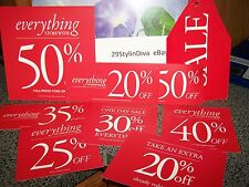 Discount signs for retail store Variety pack of 12 signs