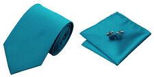 Blue Novelty 100% Silk Classic Mens Necktie Tie Hanky Cufflink Set NT7