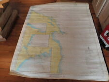 1970 Army Corps of Engineers Lake Huron Oscoda 40 Mi US Lake Survey Map #53 AT12